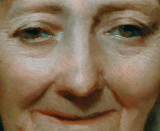 Head of a Woman / Michael Sweerts - detail of woman's face