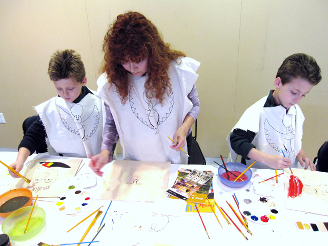 Children participating in the Family Workshop: Mummy and Me