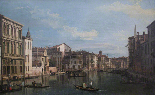 <em>The Grand Canal, Venice</em>, Canaletto, around 1738. Private collection
