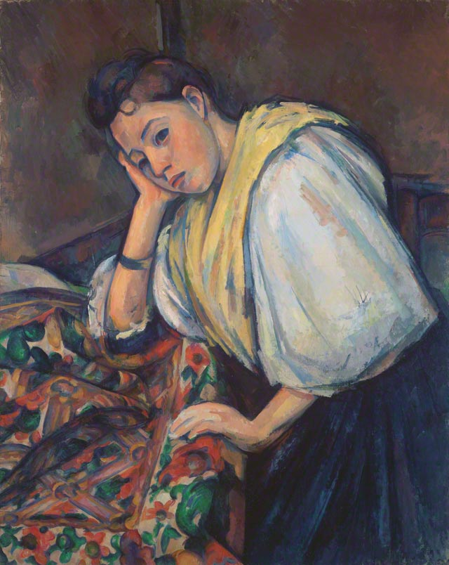 Young Italian Woman at a Table / Cézanne