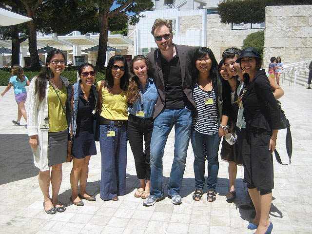 Getty summer interns with Conan O'Brien