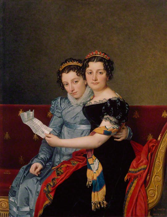 <em>The Sisters Zénaïde and Charlotte Bonaparte</em>, Jacques-Louis David, 1821