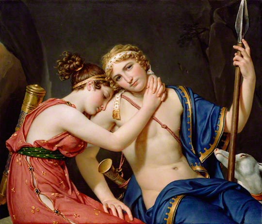 <em>The Farewell of Telemachus and Eucharis</em>, Jacques-Louis David, 1818