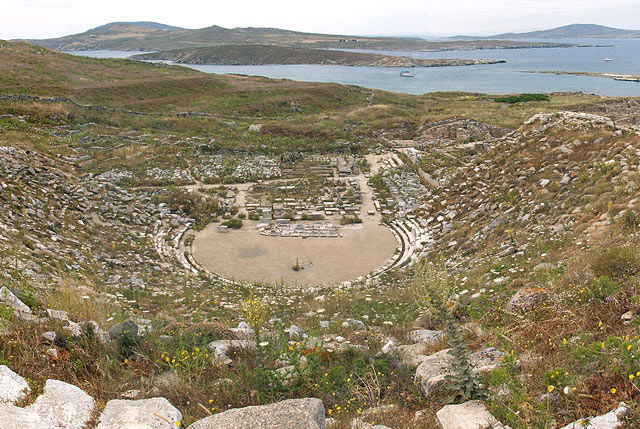 Theater of Delos, Greece