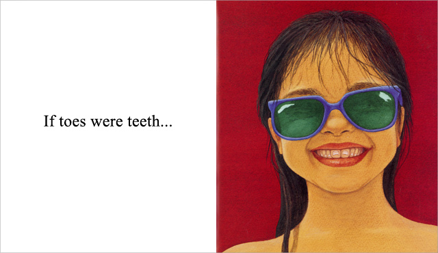 If toes were teeth - illustration from If... by Sarah Perry