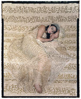 <em>Les Femmes du Maroc: Revisited #1</em>, Lalla Essaydi, 2009, chromogenic print. Image courtesy the artist