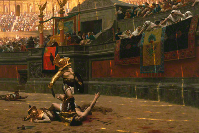 <em>Pollice Verso (Thumbs Down)</em>, Jean-Léon Gérôme, 1872. Phoenix Art Museum. Museum purchase. Photograph by Craig Smith