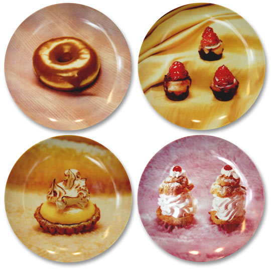 Dessert Plates featuring the photographs of Jo Ann Callis