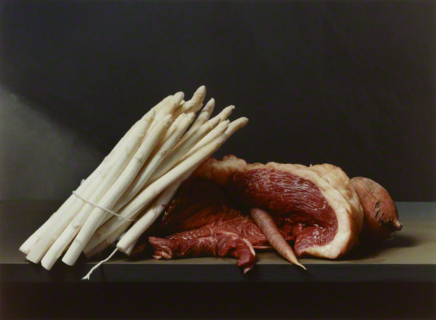 Early AmericanStill Life with Steak, Sharon Core, 2008. Purchased with funds provided by the Photographs Council of the J. Paul Getty Museum, Los Angeles  Sharon Core