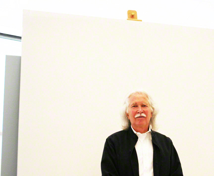 Artist Doug Wheeler at the Getty Conservation Institute science labs.