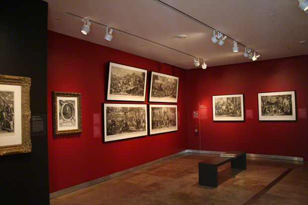 Installation view of <em>Printing the Grand Manner: Charles Le Brun and Monumental Prints in the Age of Louis XIV</em>