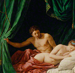 <em>Mars & Venus, Allegory of Peace</em> (detail), Louis Jean François Lagrenée, 1770