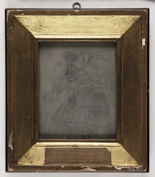 Le Cardinal d&#039;Amboise, Joseph Nicphore Nipce, (17651833), about 1826. Heliograph on pewter. The Royal Photographic Society Collection at National Media Museum