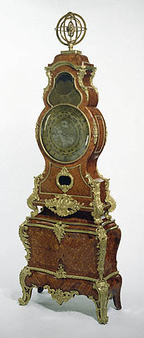 Planisphere Clock, case attributed to Jean-Pierre Latz, furniture worker; movement (now missing) by Alexandre Fortier, clockmaker, 1745–49. The J. Paul Getty Museum. The clock was sold by Maurice Ephrussi, Charles's cousin, to a gallery in 1911.