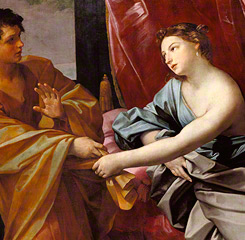 Joseph and Potiphar's Wife (detail), Guido Reni, about 1630