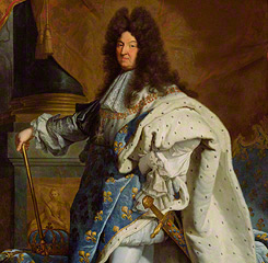 &lt;em&gt;Portrait of Louis XIV&lt;/em&gt; (detail), Workshop of Hyacinthe Rigaud, after 1701