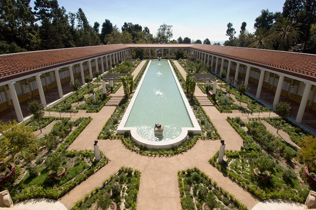 The Outer Peristyle at the Getty Villa.  2005 Richard Ross with the courtesy of the J. Paul Getty Trust