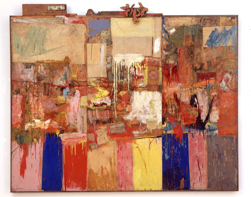 SFMOMA, one of the participants in the OSCI initiative, has chosen to focus on Robert Rauschenberg, given their significant holdings of his work, and their team is gathering together curatorial essays, conservation documentation, audio interviews and related materials in a single online resource. Image: Collection (formerly Untitled), Robert Rauschenberg, 1954, oil, paper, fabric, wood, and metal on canvas, SFMOMA