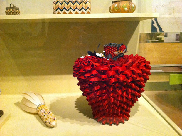 Strawberry basket by Kelly Church (Ottawa/Chippewa) at the Autry