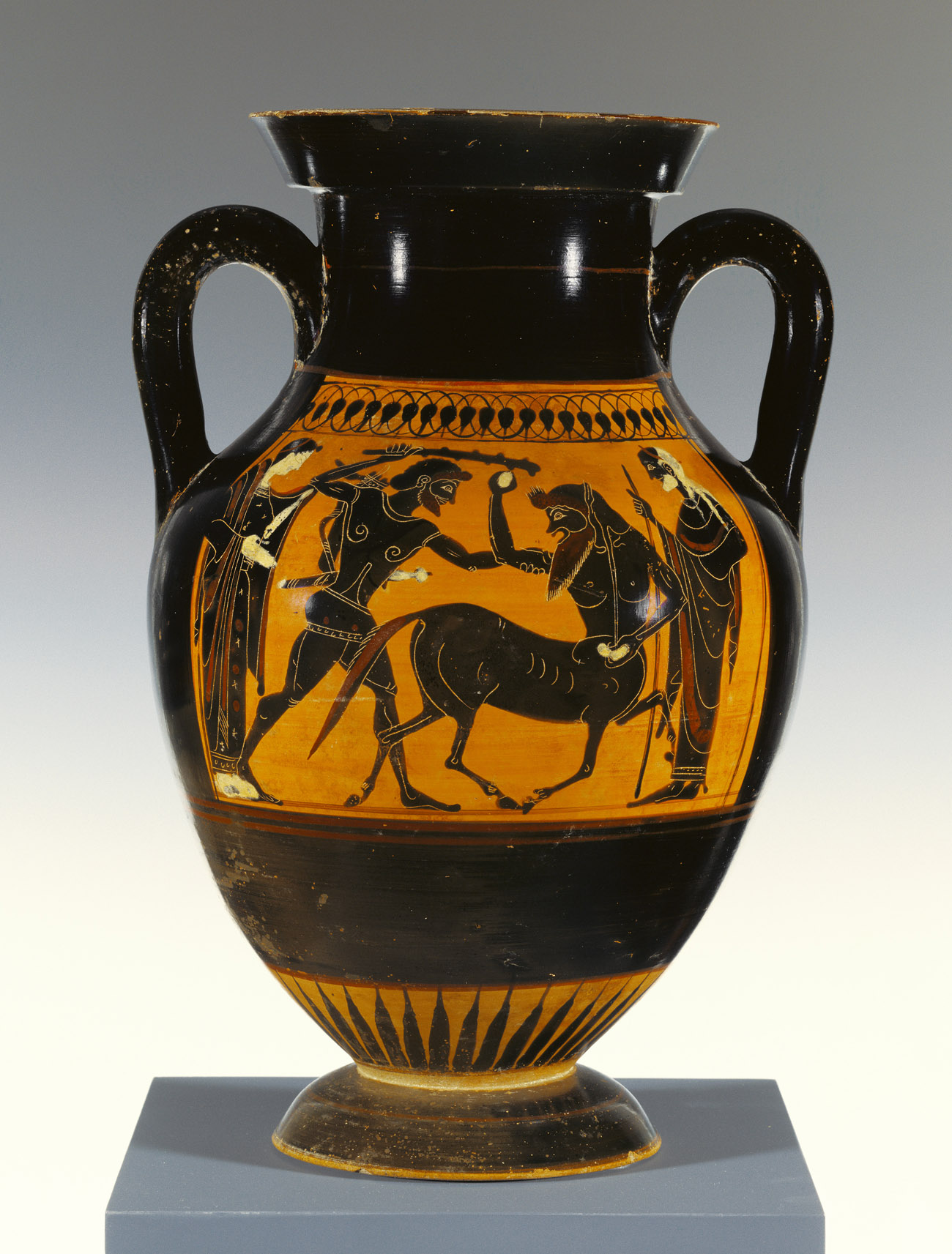 Storage Jar with Herakles Attacking a Centaur