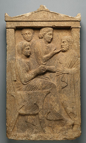 Gravestone of Sime, Greek, about 320 B.C.