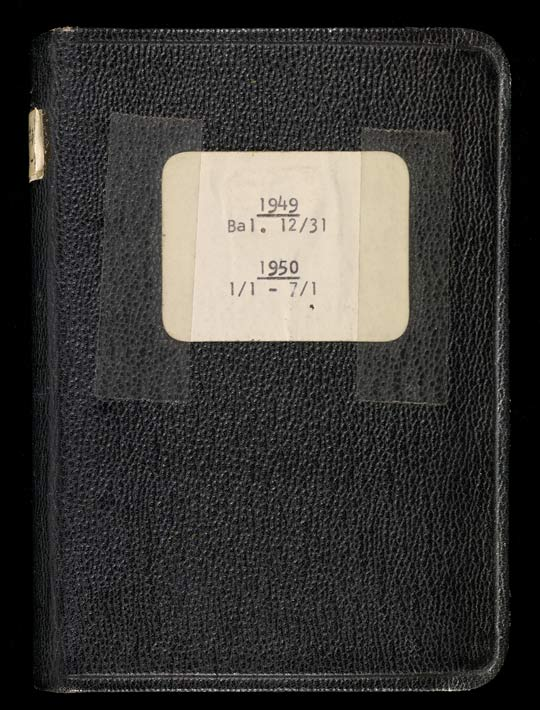 Cover of J. Paul Getty's diary for 1949 and 1950