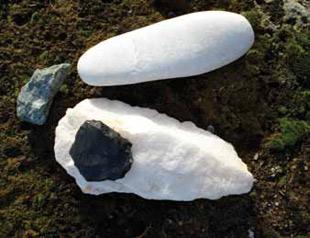 Paros marble, Milos Obsidian, and Naxos emery