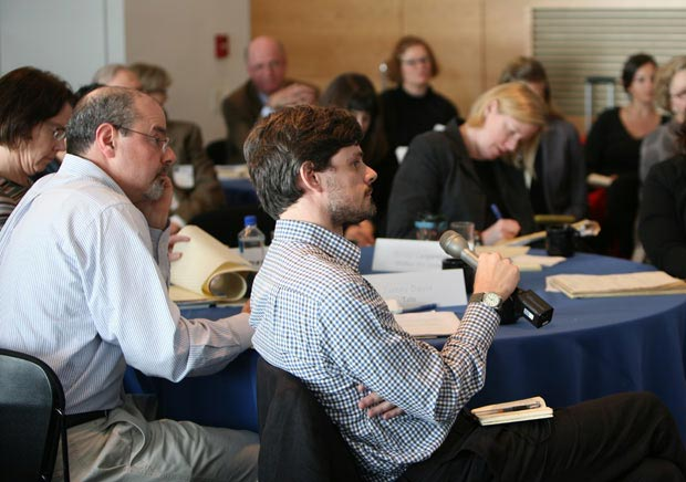 Participants at an Online Scholarly Catalogue Initiative convening