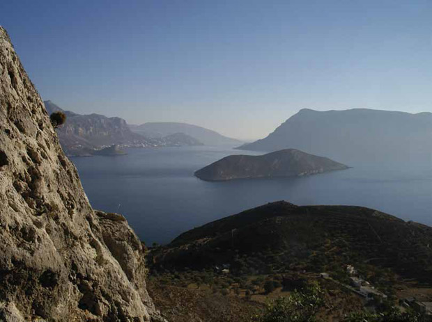 The Strait of Telendos in the Aegean Islands, Greece. Photo: Nigel McGilchrist