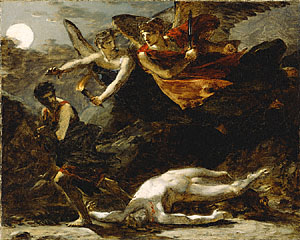 Justice and Divine Vengeance Pursuing Crime, Pierre-Paul Prud'hon, about about 1805–06