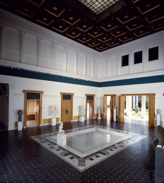 The Atrium of the Getty Villa before its renovation