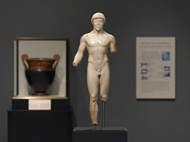 Statue of a Kouros (The Agrigento Youth), Greek, about 480 B.C., Museo Archeologico Regionale, Agrigento, Sicily. Photo  Angelo Pitrone