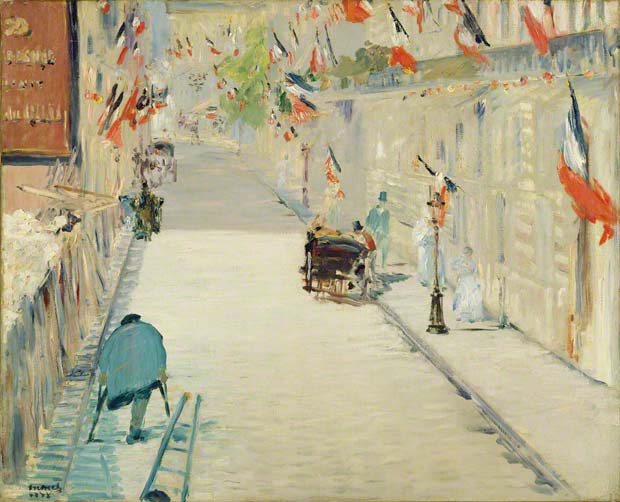 <em>The Rue Mosnier with Flags</em>, Édouard Manet, 1878