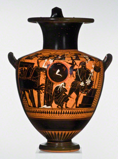 Water Jar with the Sack of Troy (Iliupersis), Greek, about 520-500 B.C. Staatliche Antikensammlung und Glyptothek München