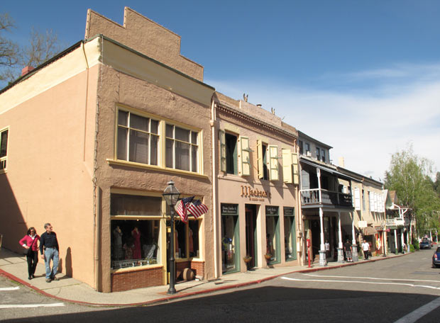 Historic downtown of Nevada City, California
