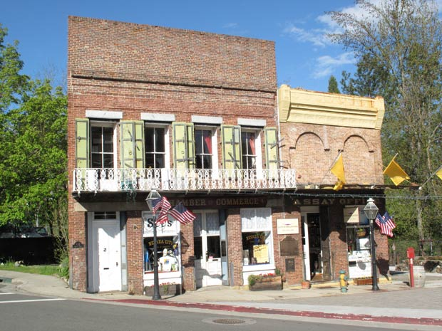 Gold Rush-era building in Nevada City, California