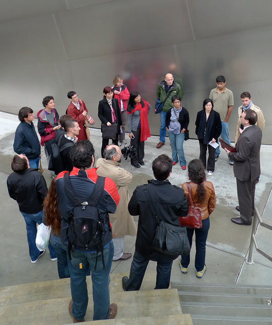 Getty Research Institute visiting scholars explore downtown L.A. and Walt Disney Concert Hall