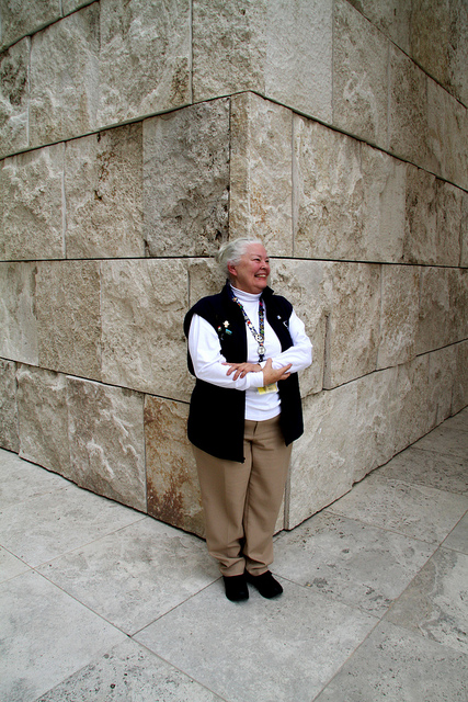 Suzanne Ziesmer has been volunteering at the Getty for a decade.