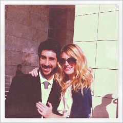 Elia Petridis and Maranatha Hay at the Getty Center
