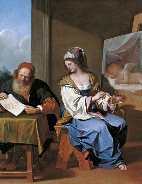 &lt;em&gt;Disegno and Colore&lt;/em&gt;, Guercino (Giovanni Francesco Barbieri), about 1640. Gemldegalerie Alte Meister, Staatliche Kunstsammlungen Dresden. Photo  Staatliche Kunstsammlungen Dresden