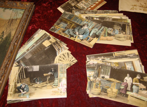 Hand-colored 19th-century postcards