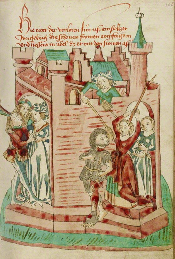 The Prodigal Son at the Brothel in Barlaam and Josaphat. The J. Paul Getty Museum, Ms. Ludwig XV 9, fol. 106