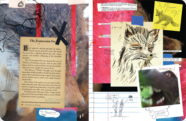 Teumessian fox spread from My Monster Notebook