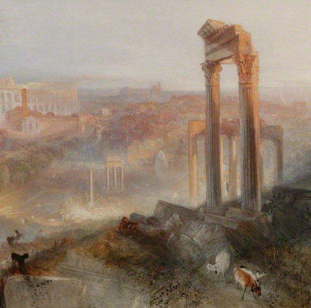 Detail of Modern Rome–Campo Vaccino / J. M. W. Turner
