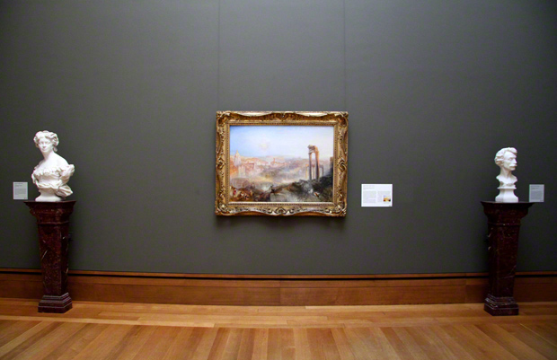 Modern Rome–Campo Vaccino / J. M. W. Turner - in the Getty Center galleries