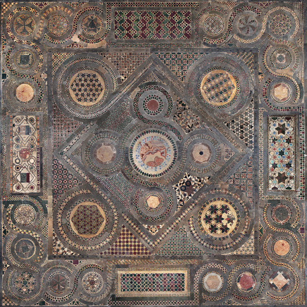 The Cosmati pavement after cleaning and conservation. Courtesy of Westminster Abbey.