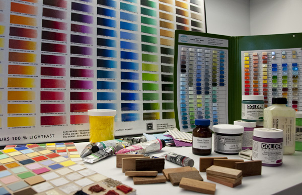 The Getty Conservation Institute's expansive Reference Collection of Artist Materials includes well over 15,000 samples of materials used in art and the art making process, and is still growing.