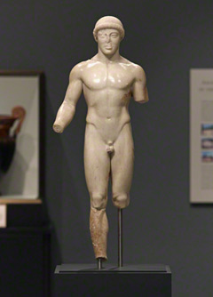 Statue of a Kouros (The Agrigento Youth), Greek, about 480 B.C., Museo Archeologico Regionale, Agrigento, Sicily. Photo © Angelo Pitrone