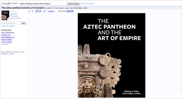 The Aztec Pantheon and the Art of Empire from Getty Publications on Google Books