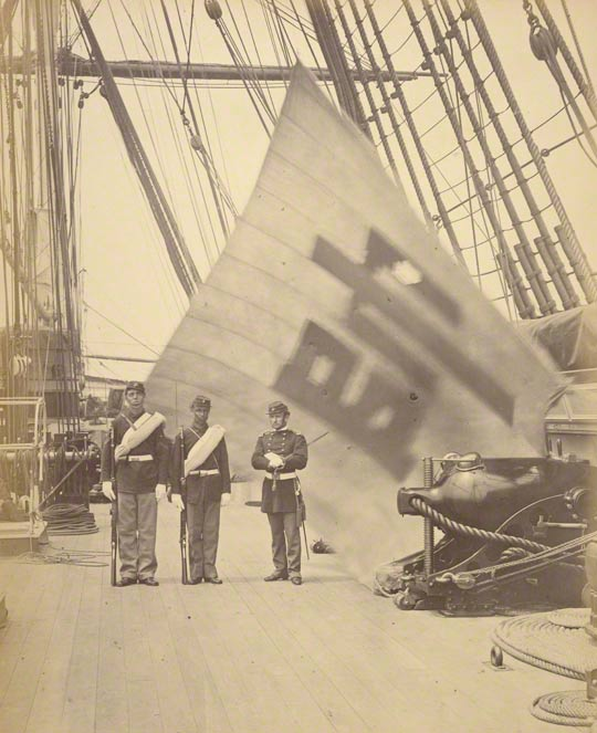 The Flag of the Commander in Chief of the Korean Forces, Felice Beato, June 1871. Partial Gift from the Wilson Centre for Photography. The J. Paul Getty Museum, 2007.26.199.46